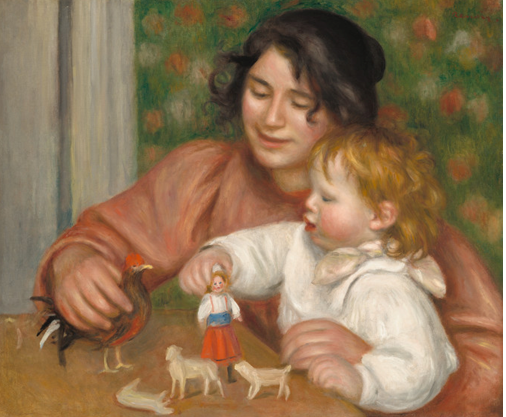 Child with toys